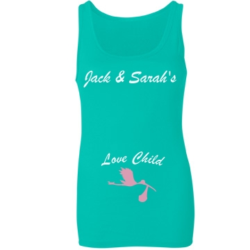 Love Child Junior Fit Bella Sheer Longer Length Rib Tank Top
