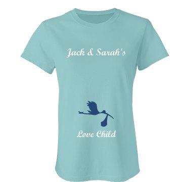 Love Child Maternity Junior Fit Bella Favorite Tee