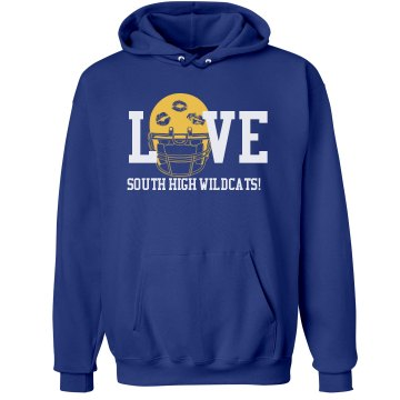 Love Football Unisex Hanes Ultimate Cotton Heavyweight Hoodie