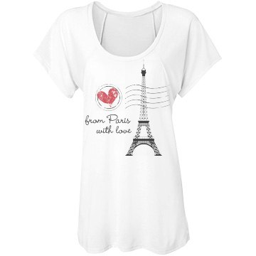 Love From Paris Bella Flowy Lightweight Raglan Tee