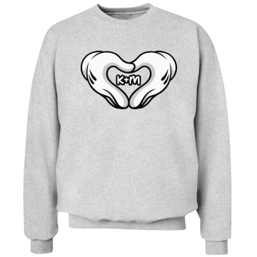 Love Hands Boy Unisex Hanes Crewneck Sweatshirt