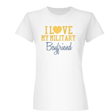 Love Heart Military BF Junior Fit Basic Bella Favorite Tee