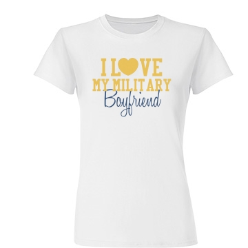 Love Heart Military BF Junior Fit Basic T