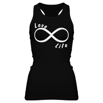 Love Life Junior Fit Bella Sheer Longer Length Rib Racerback Tank Top
