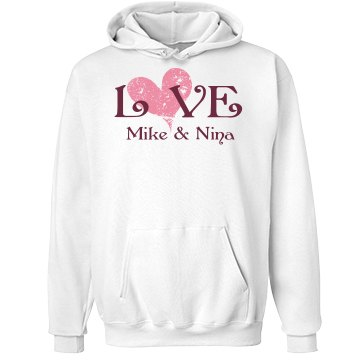 Love Mike & Nina Unisex Hanes Ultimate Cotton Heavyweight Hoodie