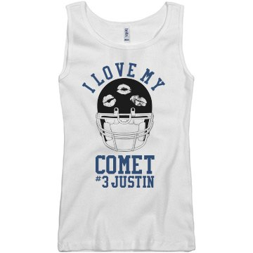 Love My Comet Football Junior Fit Basic Bella 2x1 Rib Tank Top