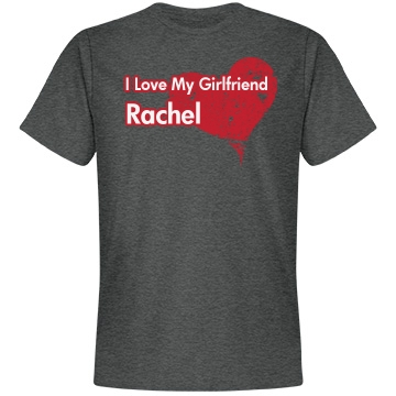 Love My Girlfriend Unisex Anvil Lightweight Fashion Tee