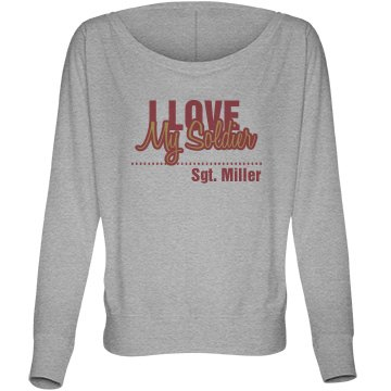 Love My Soldier Top Bella Flowy Lightweight Long Sleeve Dolman Tee