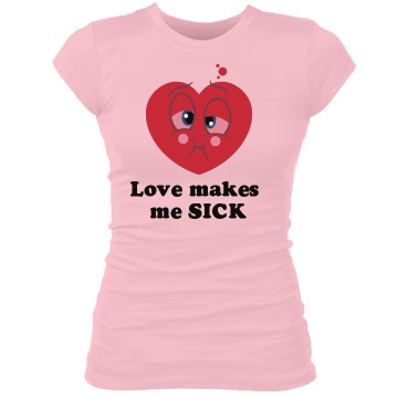 Love Sick Junior Fit Bella Sheer Longer Length Rib Tee