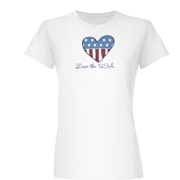 Love The USA Junior Fit Basic Bella Favorite Tee
