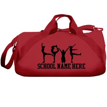 Love to Cheer Neon Bag Liberty Bags Barrel Duffel Bag
