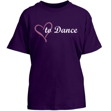 Love To Dance Youth Gildan Heavy Cotton Crew Neck Tee