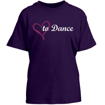 Love To Dance Youth Port & Company Essential Tee