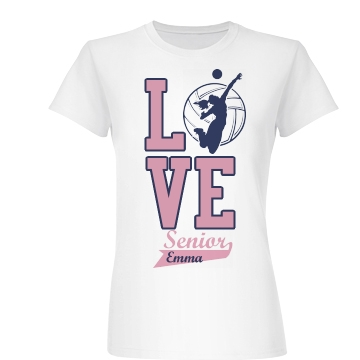 Love Volleyball Junior Fit Basic Bella Favorite Tee