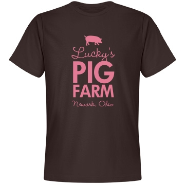 Lucky's Pig Farm Unisex Anvil Lightweight Fashion Tee