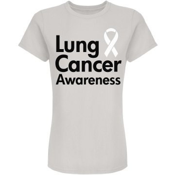 Lung Cancer Awareness Junior Fit American Apparel Fine J