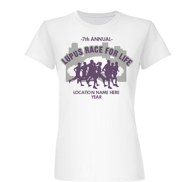 Lupus Race for Life Junior Fit Basic Bella Favorite Tee