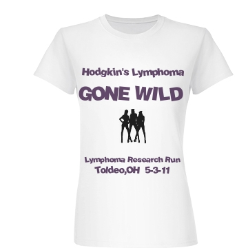 Lymphoma Gone Wild Tee Junior Fit Basic Bella Favorite Tee