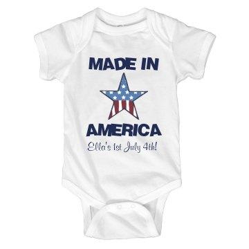 Made In America Onesie