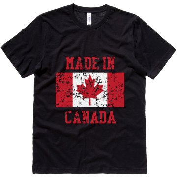 Made In Canada  Unisex Canvas Jersey Tee