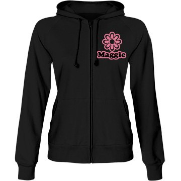 Maggie Flowers Shop Junior Fit Bella Fleece Raglan Full Zip Hoodie
