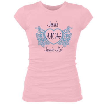 Maid Of Honor Heart Tee Junior Fit Bella Sheer Longer Length Rib Tee