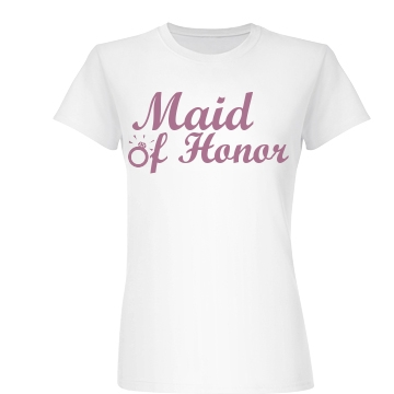 Maid Of Honor Ring Junior Fit Basic Bella Favorite Tee