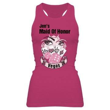 Maid Of Honor Vegas Junior Fit Bella Sheer Longer Length Rib Racerback Tank Top