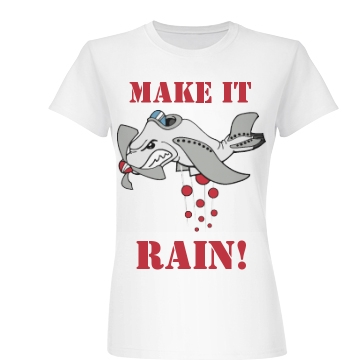 Make It Rain Dodgeball  Junior Fit Basic Bella Favorite Tee