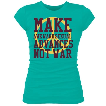 Make Love Not War Junior Fit Bella Sheer Longer Length Rib Tee