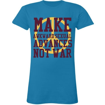 Make Love Not War Junior Fit LA T Fine Jersey Tee
