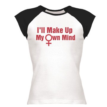 Make Up My Own Mind Junior Fit Bella 1x1 Rib Cap Sleeve Raglan Tee