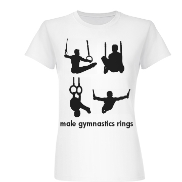 Male Gymnastics Rings Junior Fit Basic Bella Favorite Tee