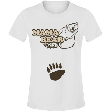 Mama Bear Maternity Misses Relaxed Fit Anvil Lightweight Fashion Tee