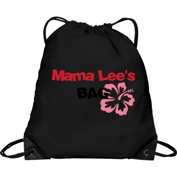 Mama Lee's Bag Port & Company Drawstring Cinch Bag