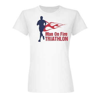 Man On Fire  Junior Fit Basic Bella Favorite Tee