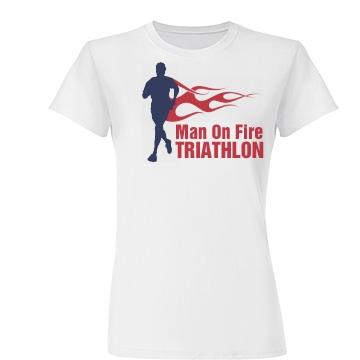 Man On Fire  Junior Fit Basic Tultex Fine Jersey Tee