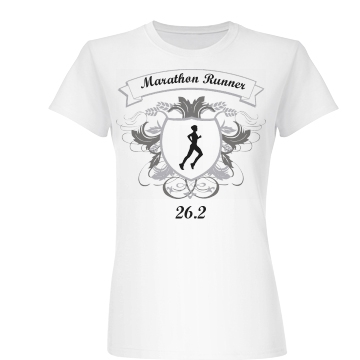 Marathon Runner Shield Junior Fit Basic Bella Favorite Tee