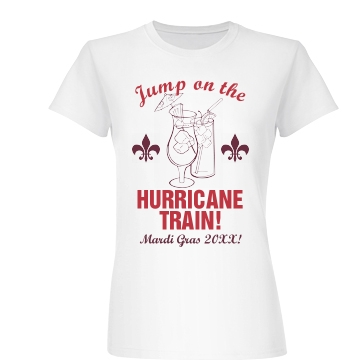 Mardi Gras Cane Train Junior Fit Basic Bella Favorite Tee