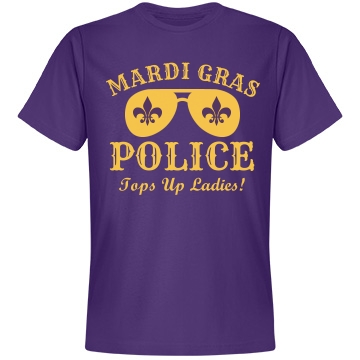 Mardi Gras Police Unisex Anvil Lightweight Fashion Tee