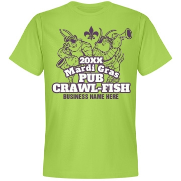 Mardi Gras Pub Crawl Unisex Anvil Lightweight Fashion Tee