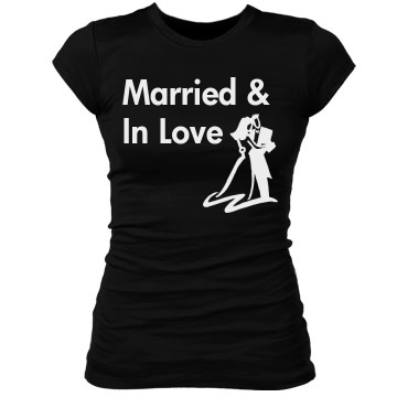 Married And In Love Junior Fit Bella Sheer Longer Length Rib Tee