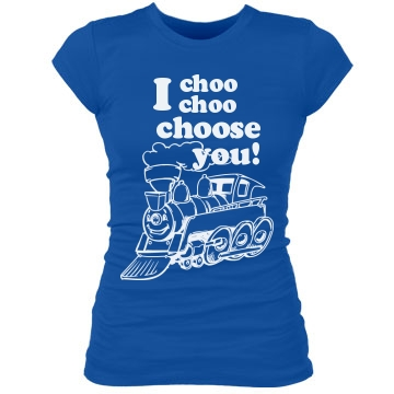 Matching I Choose You Tee Junior Fit Bella Sheer Longer Length Rib Tee