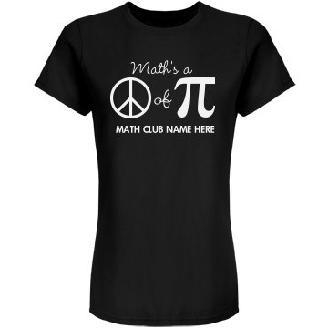 Math Club Graphic Tee Junior Fit American Apparel Fine Jersey Tee
