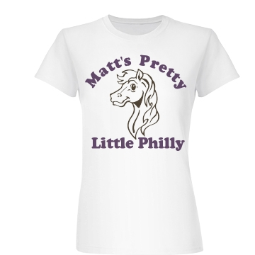Matt's Pretty Lil' Philly Junior Fit Basic Bella Favorite Tee