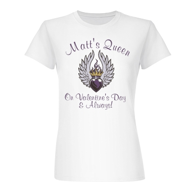Matt's Valentine Queen Junior Fit Basic Bella Favorite Tee