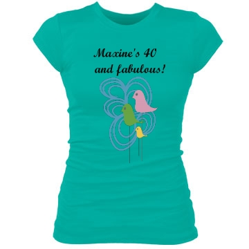 Maxine's 40 & Fabulous Junior Fit Bella Sheer Longer Length Rib Tee