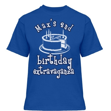 Max's 2nd Birthday Misses Relaxed Fit Gildan Heavy Cotton Tee