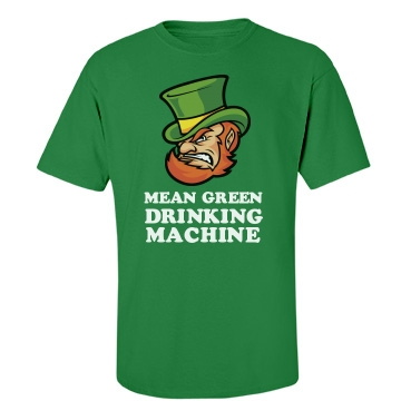 Mean Green Drinking  Unisex Gildan Heavy Cotton Crew Neck Tee