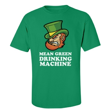 Mean Green Drinking  Unisex Port & Company Essential Tee